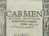 """Husoviano """"Carmen"""" (1523)"""