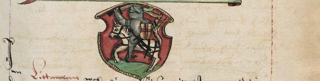 Vytis,  Prusijos kronika, XVI a