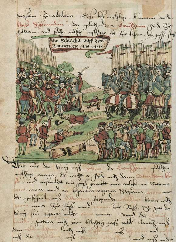 zalgiris, Prusijos kronika, XVI a., 98v